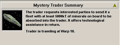 Detail pane of Mystery Trader